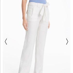 White House Black Market White Linen Pants